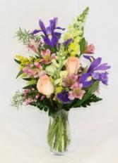 Spring Fling Floral Vase Arrangement