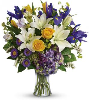 Iris Garden Fresh Arrangement in Tulsa, OK | THE WILD ORCHID FLORIST