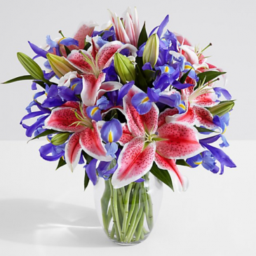 Iris Lily bouquet
