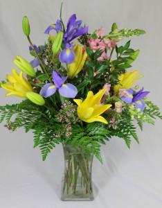 Iris Lily Spring Arrangement
