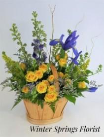 Iris Rose  Basket Design