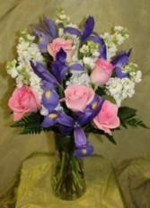 Iris Rose Fresh Arrangement