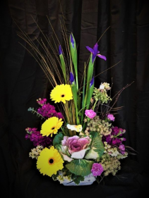 Iris Spring Beauty Arrangement