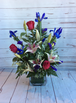 Iris & Stargazer Lily Vases  in Culpeper, VA | ENDLESS CREATIONS FLOWERS AND GIFTS