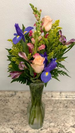 Iris Floral Vase  in Saint Simons Island, GA | A COURTYARD FLORIST
