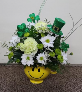Irish Smiles   FHF-79 Fresh Flower Keepsake Arrangement (Local Delivery Only)