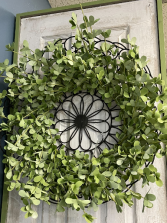 Iron and Green Wreath