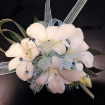 Irridescent Orchids Wrist Corsage