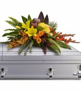 Island Memories Casket Spray SY109