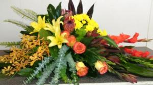 ISLAND PARADISE CASKET SPRAY in Norwalk, CA | NORWALK FLORIST