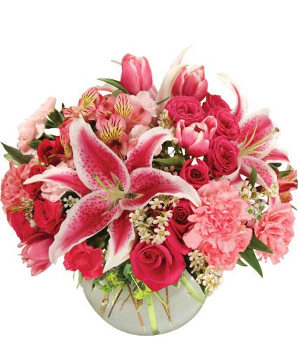 Isnt it romantic arrangement in clay city in the flower isnt it romantic arrangement in clay city in the flower basket llc mightylinksfo