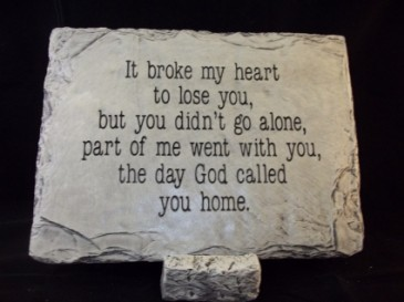 It Broke My Heart Large Memorial Stone
