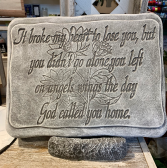 It Broke My Heart to Lose You Memorial Stone