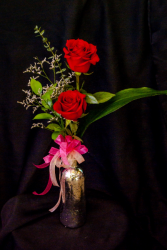 It Takes Two Roses in Bud Vase