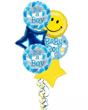 It's A Boy Balloon Bouquet in Coral Springs, FL | DARBY'S FLORIST