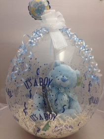 It's a Boy Stuffed Balloon  Balloon Bouquet