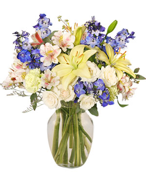 It's A Boy! Bouquet Flower Arrangement in Ventura, CA | Mom And Pop Flower Shop