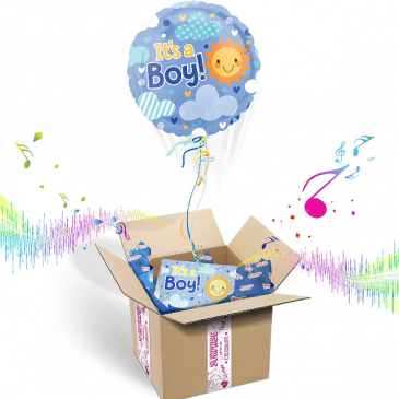 """It's A BOY"" INFLATED Helium Balloon Gift Package"