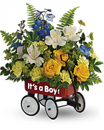 It's a Boy Little Wagon Bouquet