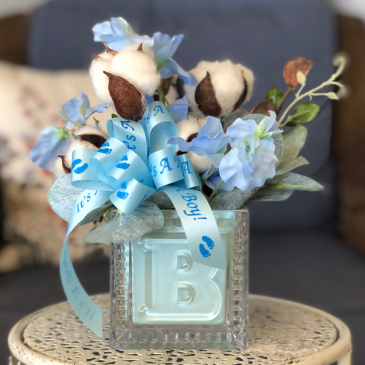 It's a Boy! Silk Floral Arrangement