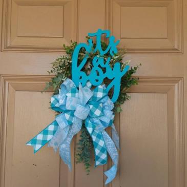 Its a Boy Wreath New Baby Wreath
