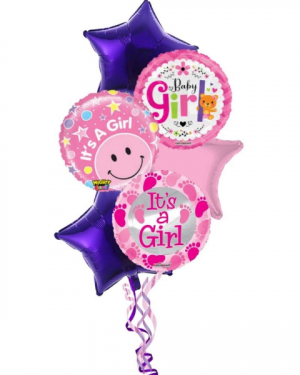 It's A Girl Balloon Bouquet in Coral Springs, FL | DARBY'S FLORIST