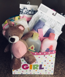 Its A Girl Basket Gift Basket