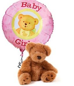IT'S A GIRL BEAR & BALLOON  in Camp Pendleton, CA | CAMP PENDLETON FLORIST