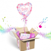 """""""It's A Girl"""" INFLATED Helium Balloon Gift Package"""