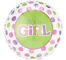 It's a girl mylar balloon balloon