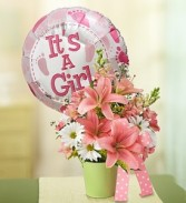 Its a Girl Pink w/ Balloon