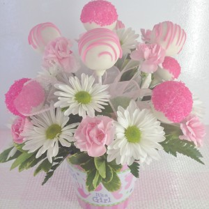It's a Girl Pops & Posies Sweet Blossoms  in Jamestown, NC | Blossoms Florist & Bakery