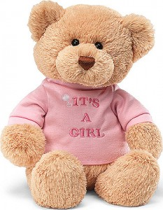 It's a Girl Teddy Bear New Baby in Richland, WA | ARLENE'S FLOWERS AND GIFTS