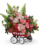 It's a Girl Little Wagon Bouquet