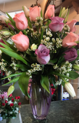 Its a Lady Vase Arrangement