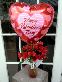 IT'S A VALENTINE'S DAY BOUQUET! Vase Arrangement