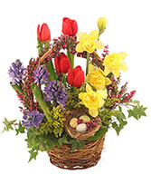 It's Finally Spring! Basket Arrangement