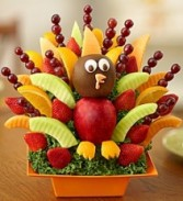 It's Turkey Time Fruit Arrangement Fresh Fruit and Chocolate Bouquet