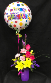 It's Your Birthday with Balloon Vase