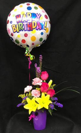 It's Your Birthday with Balloon Vase