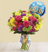 ITS YOUR DAY BOUQUET WITH BALLOON