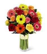 It's Your Day! Gerbera and Rose Bouquet