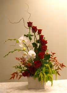 I've Fallen For you Cascading Rose Arrangement with Live Orchid Plant in Monument, CO   ENCHANTED FLORIST