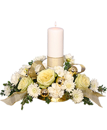 IVORY LIGHT CENTERPIECE Floral Arrangement