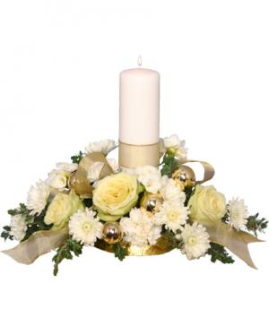 IVORY LIGHT CENTERPIECE Floral Arrangement in Groveland, FL | KARA'S FLOWERS