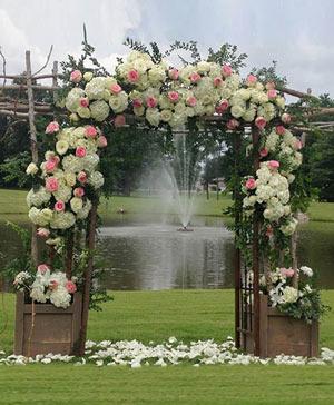 Ivory & Rose Altar Arrangement in Hillsboro, OR | FLOWERS BY BURKHARDT'S