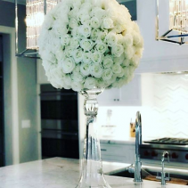 Ivory Rose Bouquet Vased Arrangement