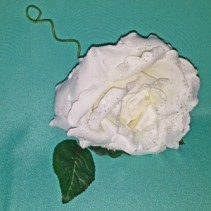 Ivory Silk Rose Water Drops Silk Flowers