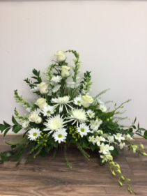 Ivory Splendor Sympathy arrangement