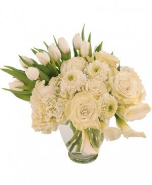 Ivory Splendor Arrangement in Ozone Park, NY | Heavenly Florist